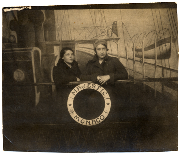 Amelia Pelaez and Lydia Cabrera en route to Europe aboard the Majestic Monaco, 1927. From the Lydia Cabrera Papers.